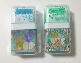 Sumikkogurashi Eraser Roller With Case Cute Rare Cute Light Green Light ... - $12.20