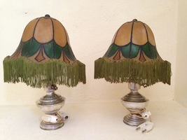 Beautiful couple of silver lamps - $240.00
