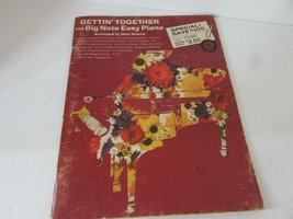 VTG SHEET MUSIC BOOK GETTIN' TOGETHER FOR BIG NOTE EASY PIANO MATT DENNIS - $7.87