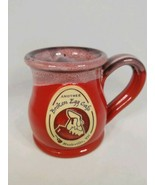Another Broken Egg Cafe Nashville TN Coffee Mug Cup Deneen Pottery Red - $24.99