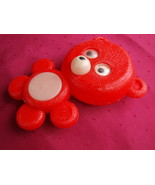 VINTAGE SOVIET USSR RUSSIAN OLYMPIC MOSCOW 1980  RED BEAR PLASTIC TOY DO... - $23.63