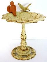 Vintage Cast Iron Rustic Birdbath - Garden Tabletop With Hummingbird- Ch... - $25.00