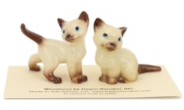 Hagen Renaker Miniature Cat Siamese Mama and Papag Ceramic Figurine Set