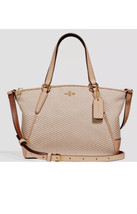 New Coach F27574 mini Kelsey Legacy Collection Jacquard / Leather Milk B... - $164.99