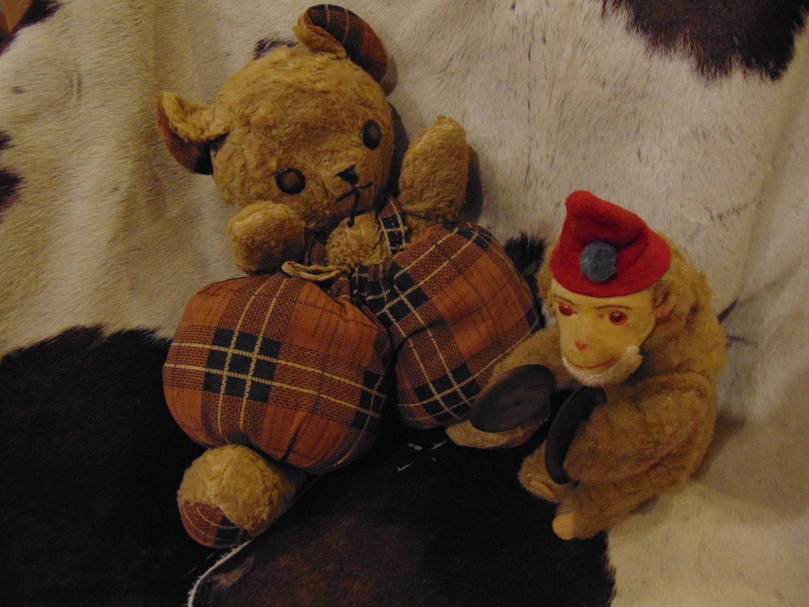 1960s Cubbi bear by Gund and Monkey from Germany - $34.95
