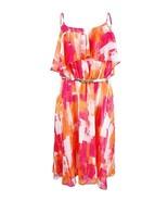 Calvin Klein Femmes Pur Imprimé Robe Décontractée, Orange/Rose/Rouge Mul... - $43.42