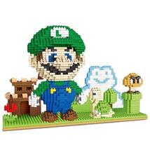 Super Mario Bros. Micro Blocks Luigi with Landscape - $42.50