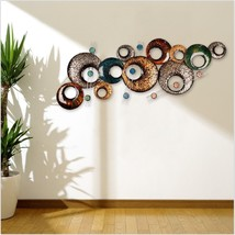 Abstract Sculpture Modern Wall Decor Metal Colored Artwork Hanging Iron ... - £71.89 GBP