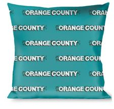 Throw Pillow - Orange County Blue/Brown Logo - $28.99