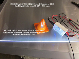 "INSIGNIA 24"" NS 24E200NA14 Complete LED Backlight Strip Length 21"" - 533 mm - $19.64"