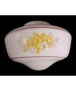 Floral White Glass Schoolhouse Light Shade Globe Ceiling Fan Flush Mount... - $13.95
