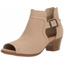 Clarks Strappy Sandals Valarie Kimble Suede Open Toe Perforated - $52.94