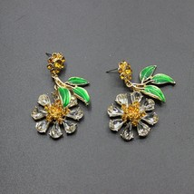 2017 European and American Baroque fashion color crystal green leaves ea... - $14.81