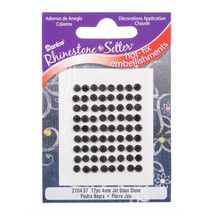 72 Black Zircon 4mm Hot Fix Glass Stone Rhinestones - $3.29