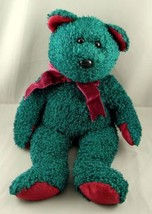 "Ty Beanie Babies Teal Green Holiday Bear Plush Toy 13.5"" Stuffed Animal ... - $14.85"