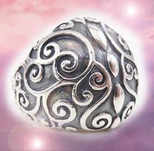 HAUNTED RING 7000X SORCERESS LAIR CLEANSED PROTECTION EXTREME MAGICK 7 SCHOLAR - $153.89