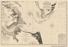 Civil War - Chesapeake Bay Entrance - Bache 1863 - 23.00 x 33.46 - $36.58+