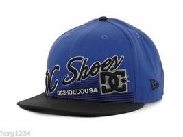 "New Era 9FIFTY Dc Shoes ""Scripto"" Logo Snapback Flat Bill CAP/HAT- BLUE/BLACK - $18.04"