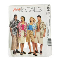 Easy McCall's Sewing Pattern P236 Short Sleeve Tops  Shorts and Ankle Pants - $3.27