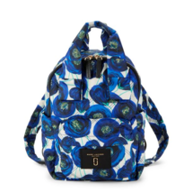 Marc Jacobs M0013284 Floral Printed Nylon Backpack In Blue Multi - ₨9,959.92 INR