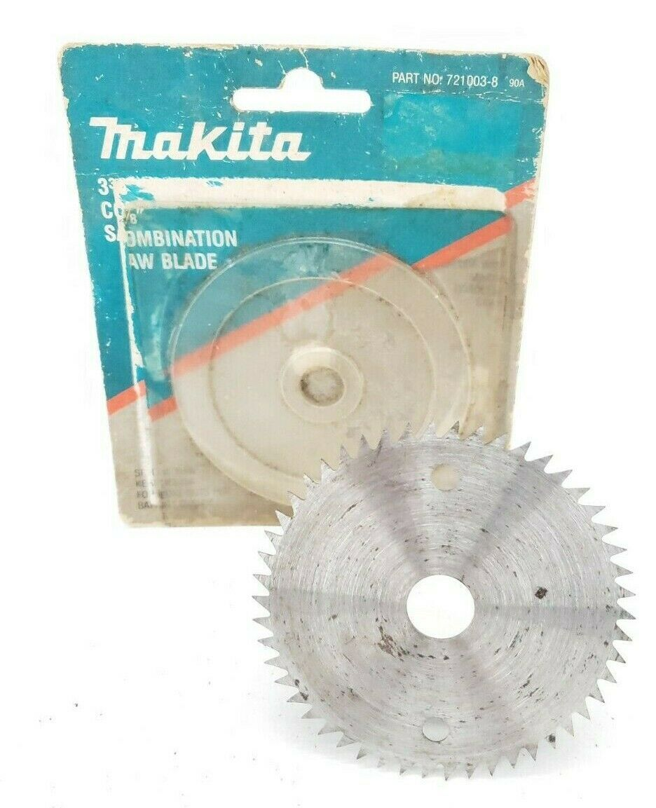 "Primary image for Makita 721003-8 Combination Saw Blade 3-3/8"" 50 Steel Teeth"