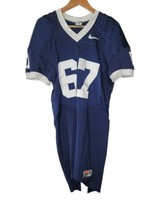 Nike Team Mens Football Practice Scrimmage Jersey 67 Blue White sz XL - $64.35