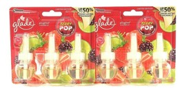 2 Packs Glade PlugIns 2.01 Oz Limited Edition Berry Pop 3 Ct Scent Oil R... - $27.99