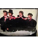 The Beatles HELP ! Snowglobe John Paul George Ringo Candy Cane Scarf Sno... - $24.99