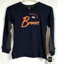 Denver Broncos NFL Girls Sz 10/12 Long Sleeve Sweat Shirt Team Apparel C2-17 - $16.90