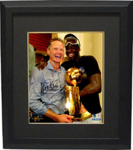 Steve Kerr signed Golden State Warriors 8x10 Photo Custom Framed (Holdin... - £95.60 GBP