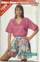 Butterick Sewing Pattern 6403 Misses Top Culottes Size 16-24 - $7.84