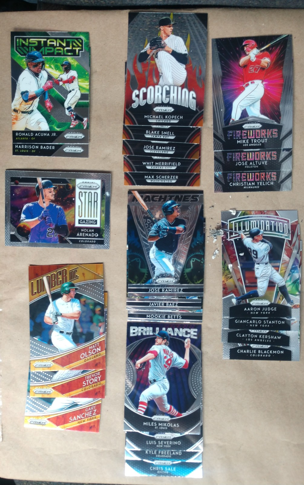 2019 panini Prizm 178 refractors & parallels cards + partial base set MUST SEE!