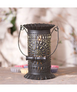 """PRAIRIE"" WAX TART WARMER - Punched Tin Tart Accent Light with Wood Bail... - $37.21"