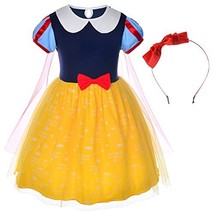 Princess Snow White Costume For Toddler Girls With Headband 2-3 Years 2T 3T - $27.46