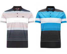 Hugo Boss Grün Herren Streifen Baumwolle Polo Paddy 3 Shirt T-Shirt 50379129 - $98.74