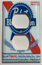 Pabst Blue Ribbon Beer Light Switch Outlet wall Cover Plate Home Decor image 2