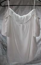 Old Navy Blouse Women 2X Sleeveless White Off Shoulder Sleeve Short NEW - $18.99