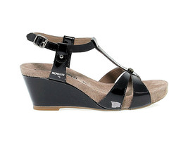 Heeled sandal MEPHISTO BRIANA in black leather - Women's Shoes - $169.86