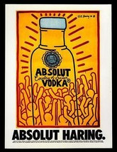 Absolut Haring AD 1986 Vodka Liquor Distillery Keith Haring Advertising Art - $14.99