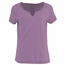 Medium 8-10 White Sierra Women's Kylie Short Sleeve Tee Shirt T-Shirt Top Grape