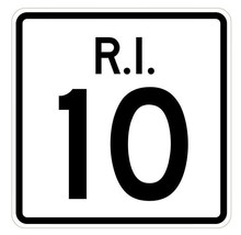 Rhode Island State Road 10 Sticker R4217 Highway Sign Road Sign Decal - $1.45+