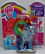 My Little Pony Pearlized translucent Rainbow Dash Explore Equestria figure - $190,85 MXN
