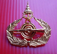 Master Class Royal Thai Army Force infantry Metal Badge - $14.00