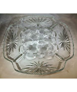 Crystal Deviled Eggs Platter Amer Prescut Anchor Hocking Superb Price - $19.00
