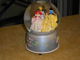 Enesco Disney Princess SNOW DOME GLOBE Musical Ariel Belle Snow White Sl... - $23.79