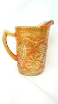 """Vintage Imperial Glass ~ Marigold Carnival Grape & Cable Sawtooth Rim 6""""... - $34.65"""