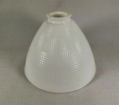 """Vtg. Corning White Waffle Milk Glass Torchiere Diffuser Lamp Shade 8""""W x... - €18,47 EUR"""