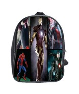Scb0005 backpack school bag all marvel heroes ant man iron man c thumbtall