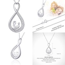 Sterling Silver Infinity Necklace Mother And Daughter Forever Love Women... - $30.84