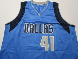 DIRK NOWITZKI / AUTOGRAPHED DALLAS MAVERICKS BLUE CUSTOM BASKETBALL JERSEY / COA image 2